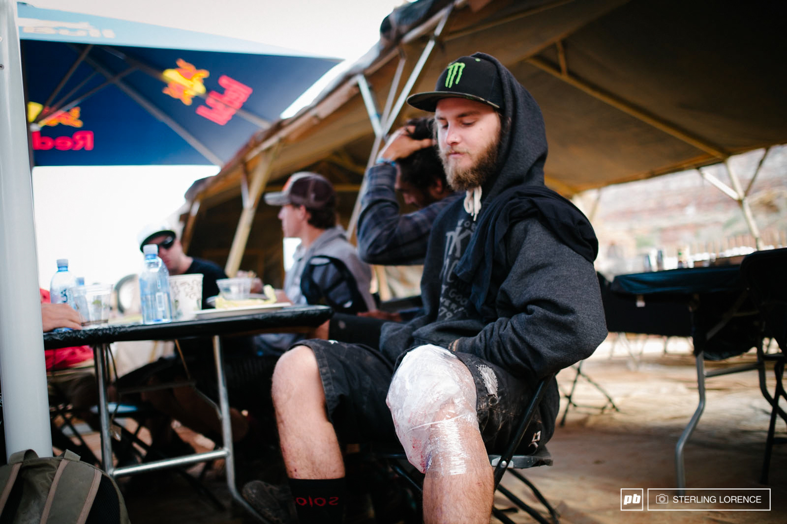 the bummer news of the morning Aggy s knee is too hurt to compete. RedBull Rampage 2014.