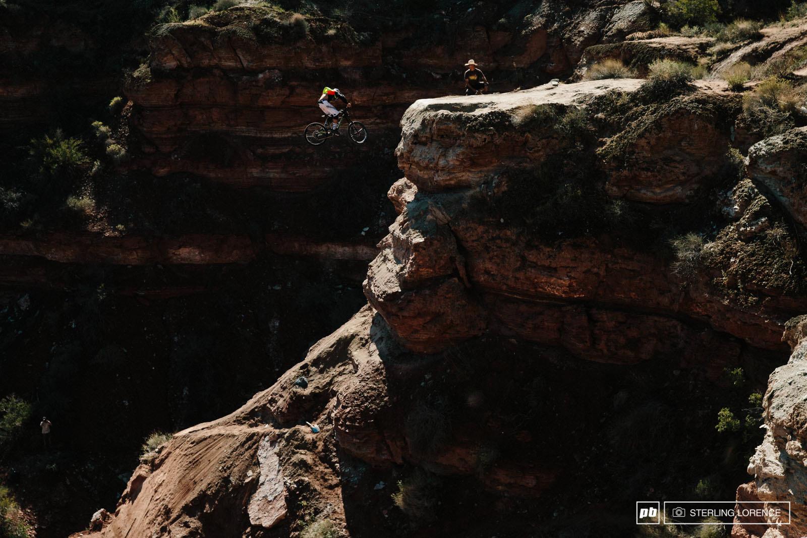 Cam Zink s 360 drop at RedBull Rampage 2014.