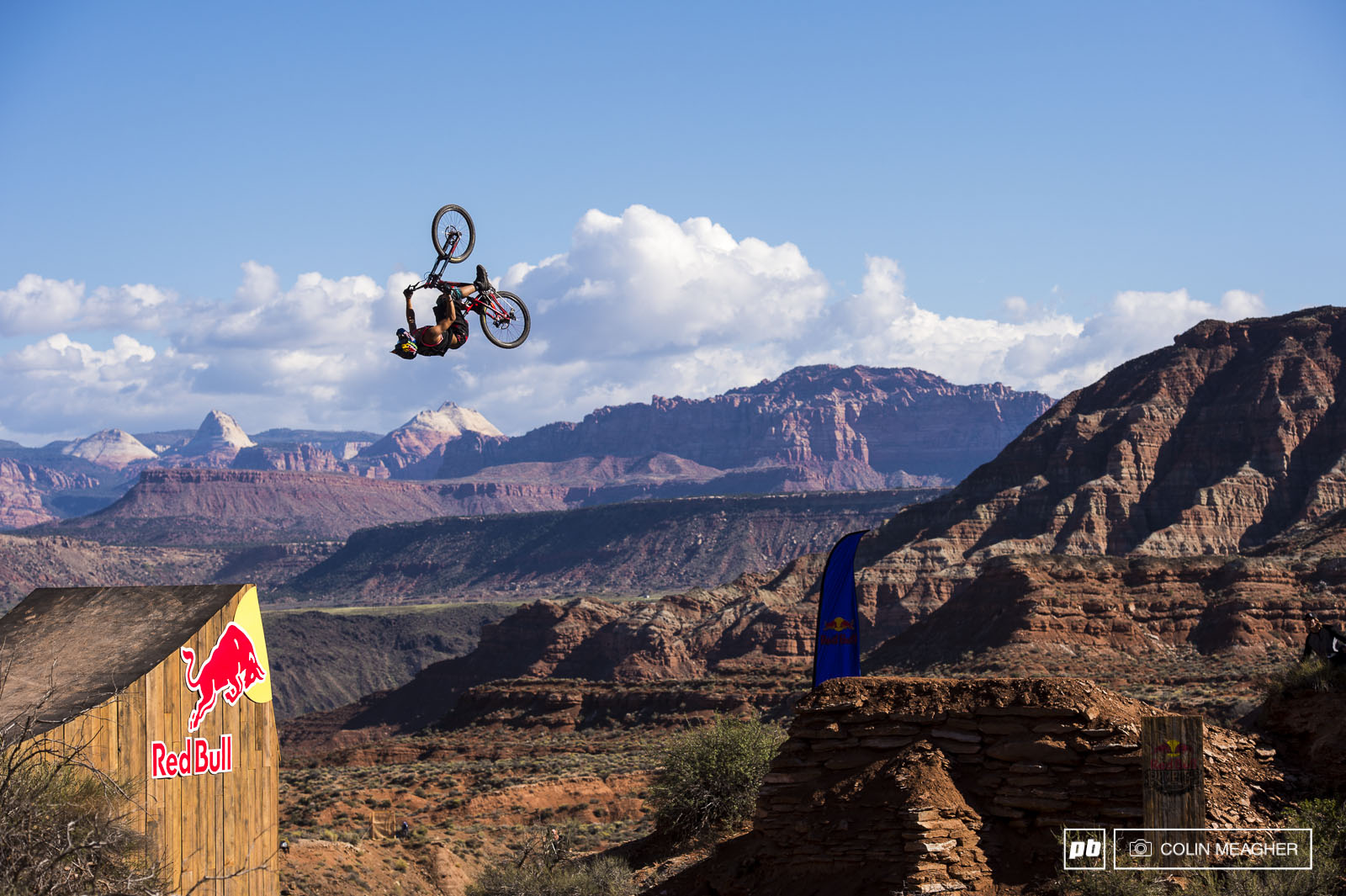 Szymon Godziek... the level has definitely turned up since the last Rampage casually backflipping the canyon gap was the norm.
