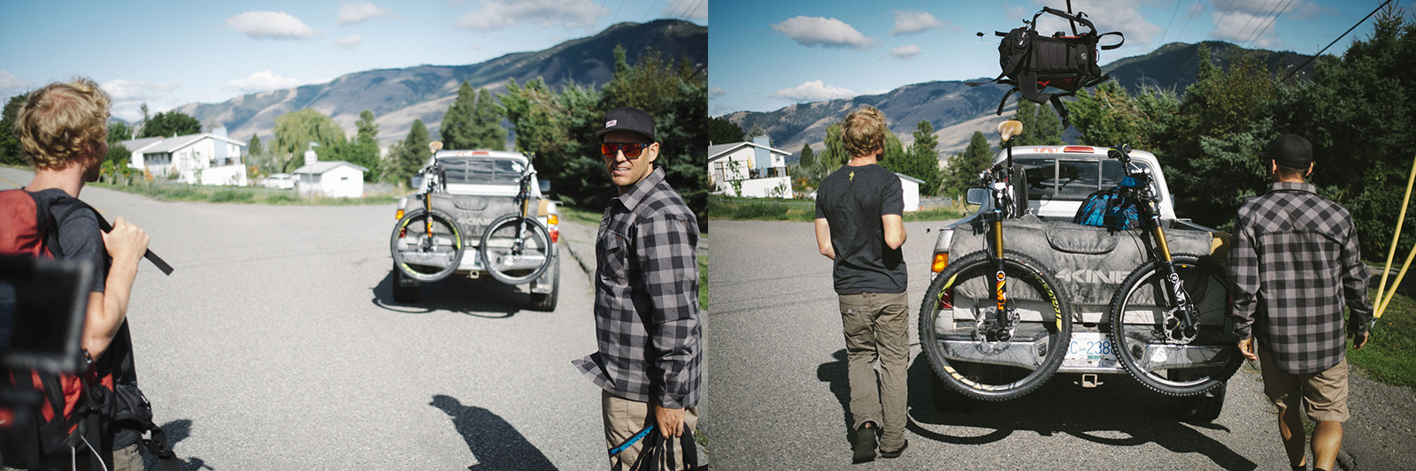 andrew shandro and matt hunter in revelstoke british columbia