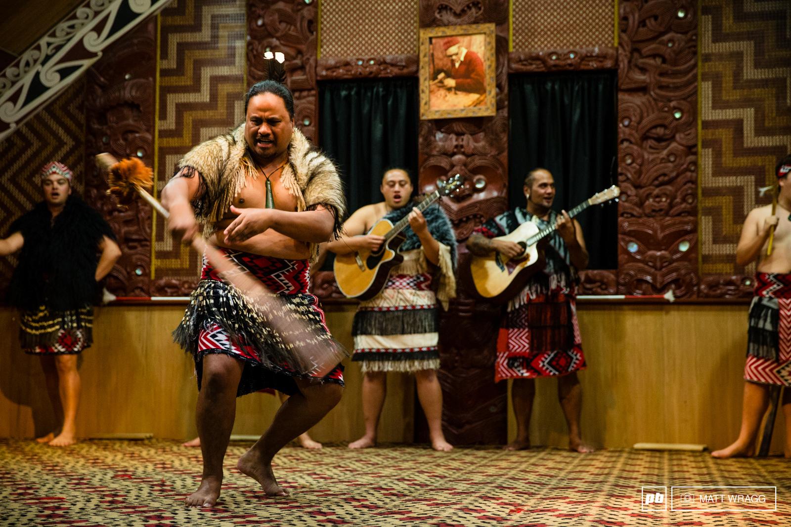 Maori dance during opening ceremony at Te Puia. EWS 1 2015 Rotorua New Zealand. Photo by Matt Wreagg.