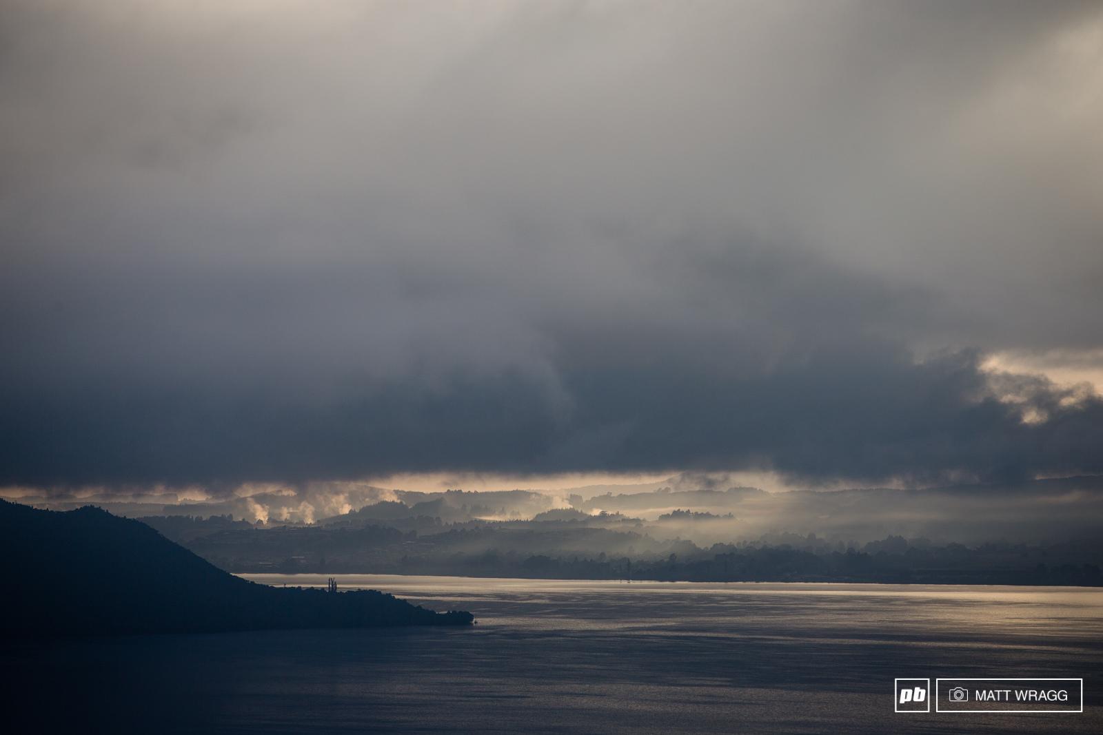 Dawn over Lake Rotorua.