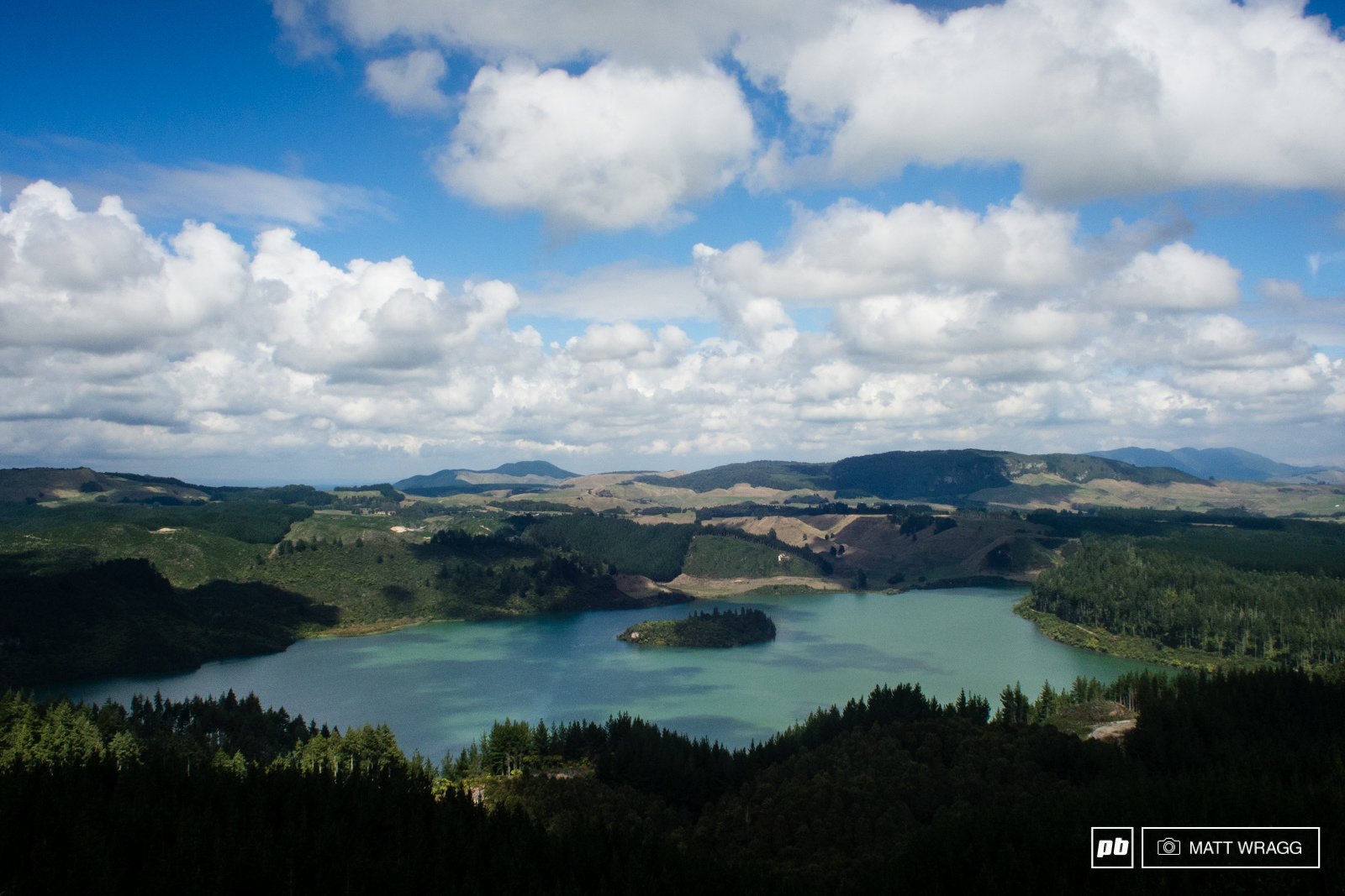 Stages one to six run through the Whakawera forest skirting around the stunning green lake in places.