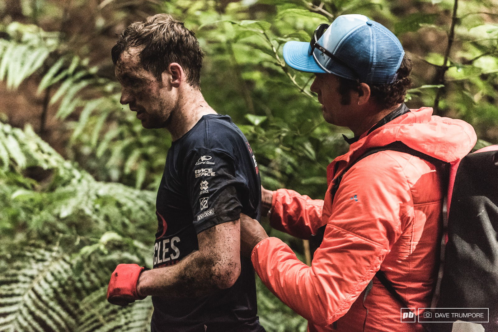 Gary Forest had a scary moment on stage 7 after landing a big stepdown a bit too nose heavy and cartwheeling into a tree.