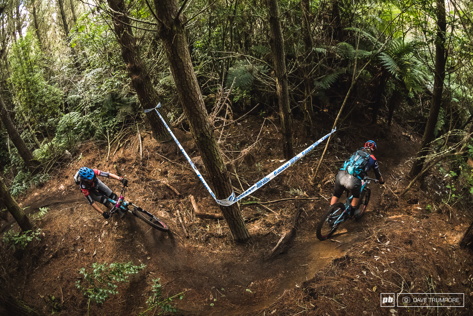 Twins Caro and Anita Gehrig thread their way through the twist and slippery corners that start off stage 2