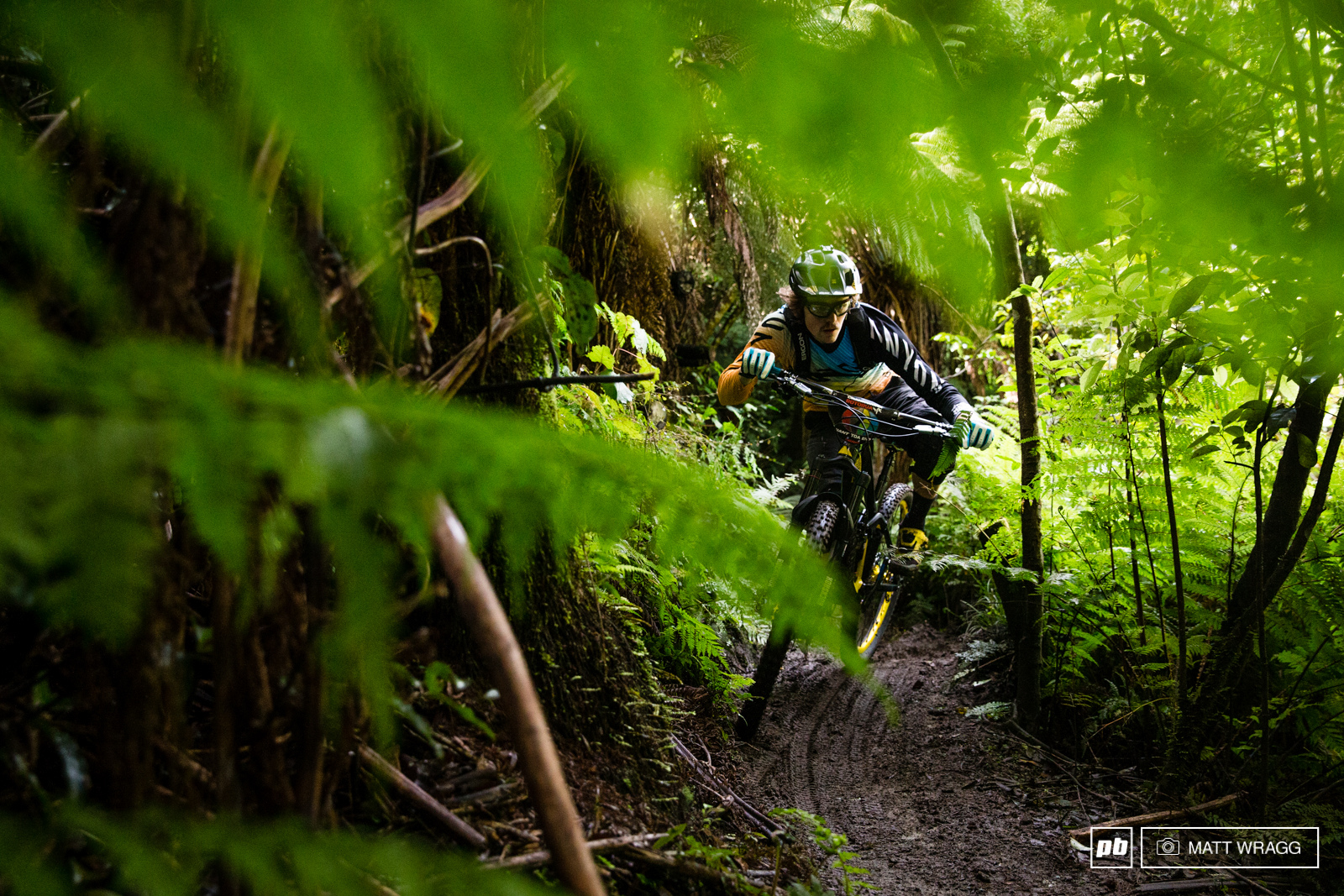 Joe Barnes has been looking fast and comfortable in the roots and mud of Rotorua all week.