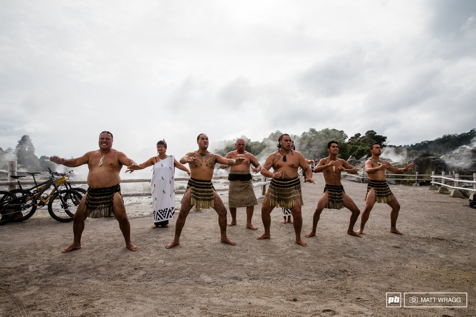 Before the pro men took to the course there was a performance of the Haka to set the mood for the day.