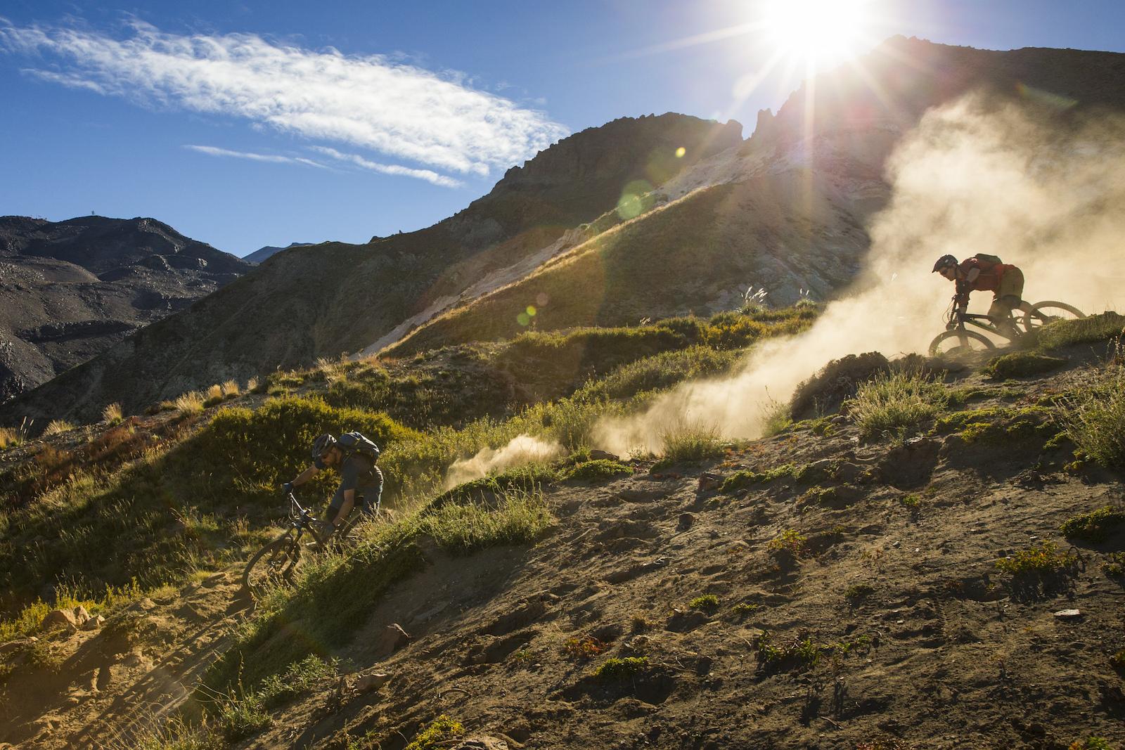 Thomas Vanderham Andrew Shandro in Nevados de Chillan Chile.