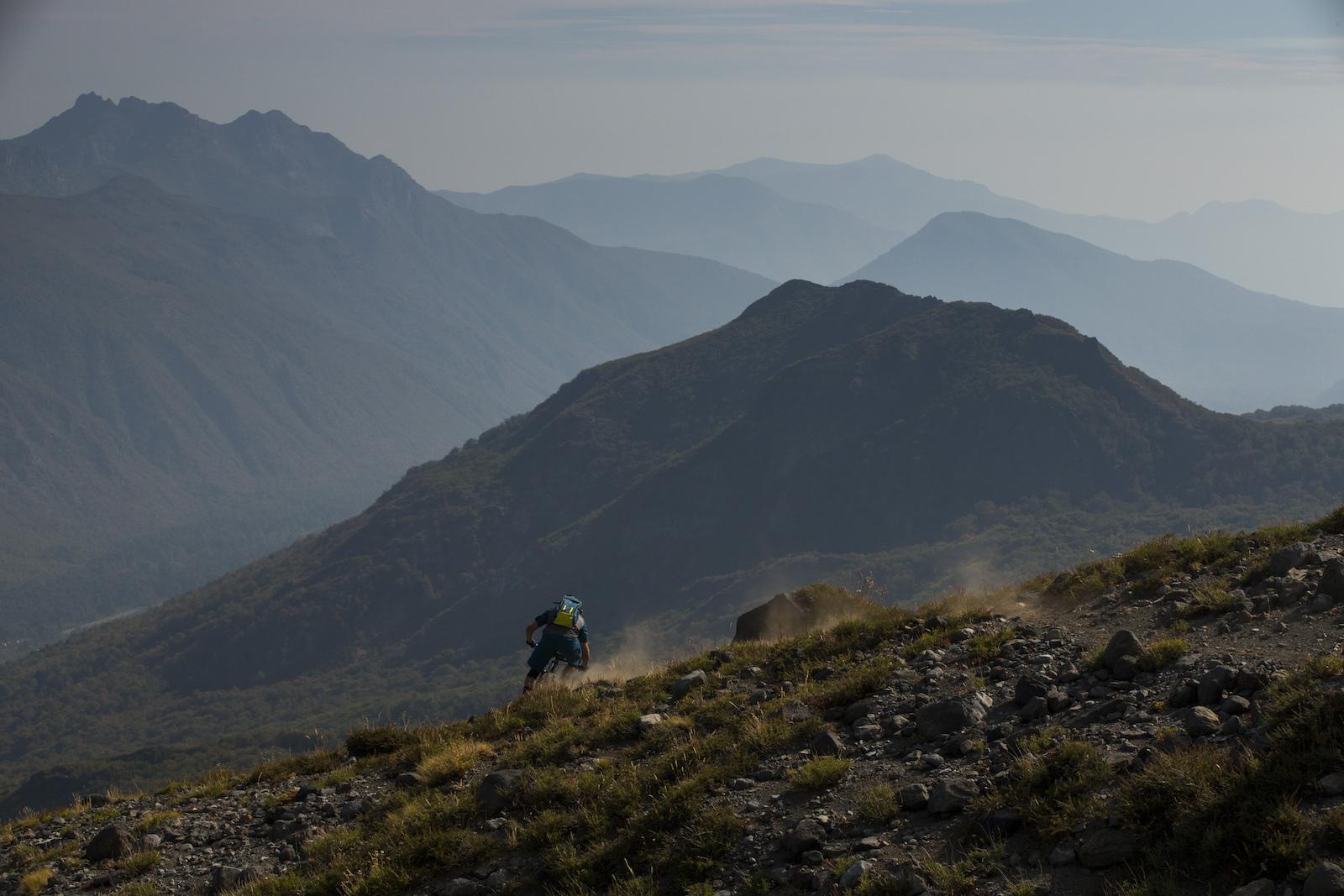 Thomas Vanderham Andrew Shandro Ignacio Roco and Nicolas Rieutord in Nevados de Chillan Chile.