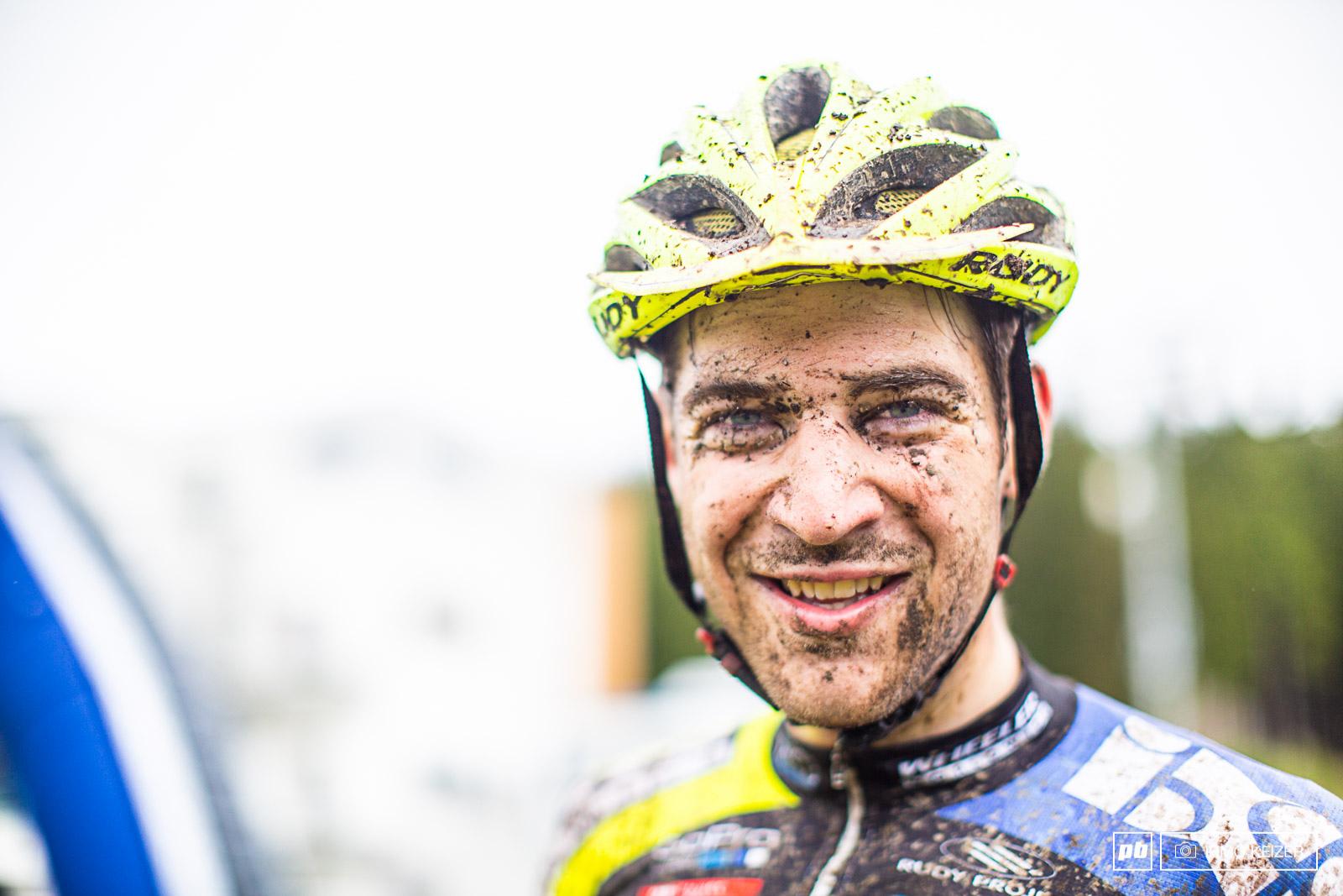 Lars Forster s after-battle face.