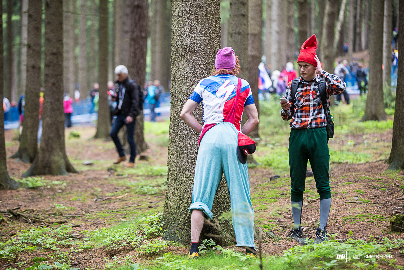 Czechs love beer. And all sorts of booze for that matter. Sanitary stops all over the forest.