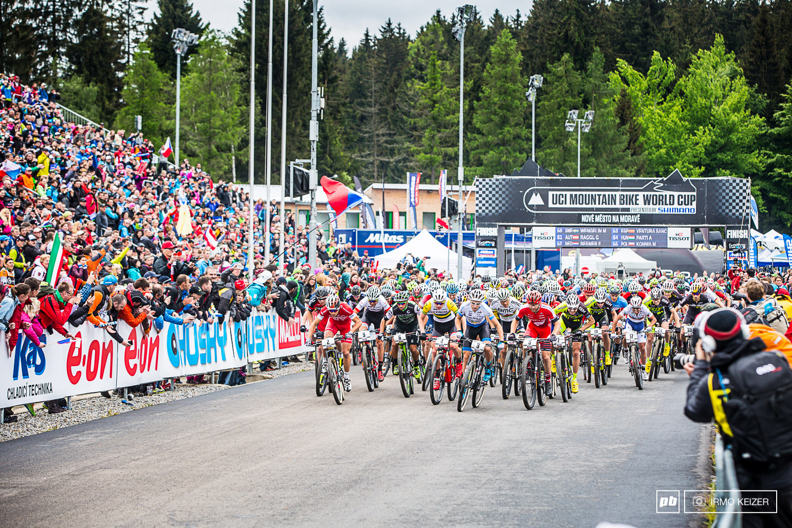 The sheer speed on the men s start is an incredible scene to witness. An electrifying atmosphere in Nove Mesto.