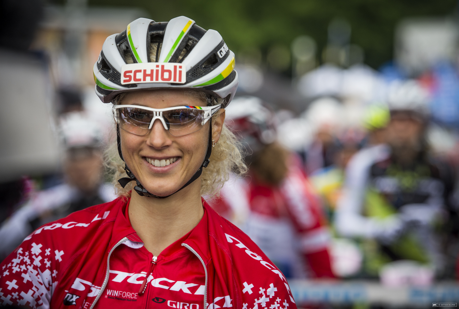 Jolanda Neff was all smiles at the start.