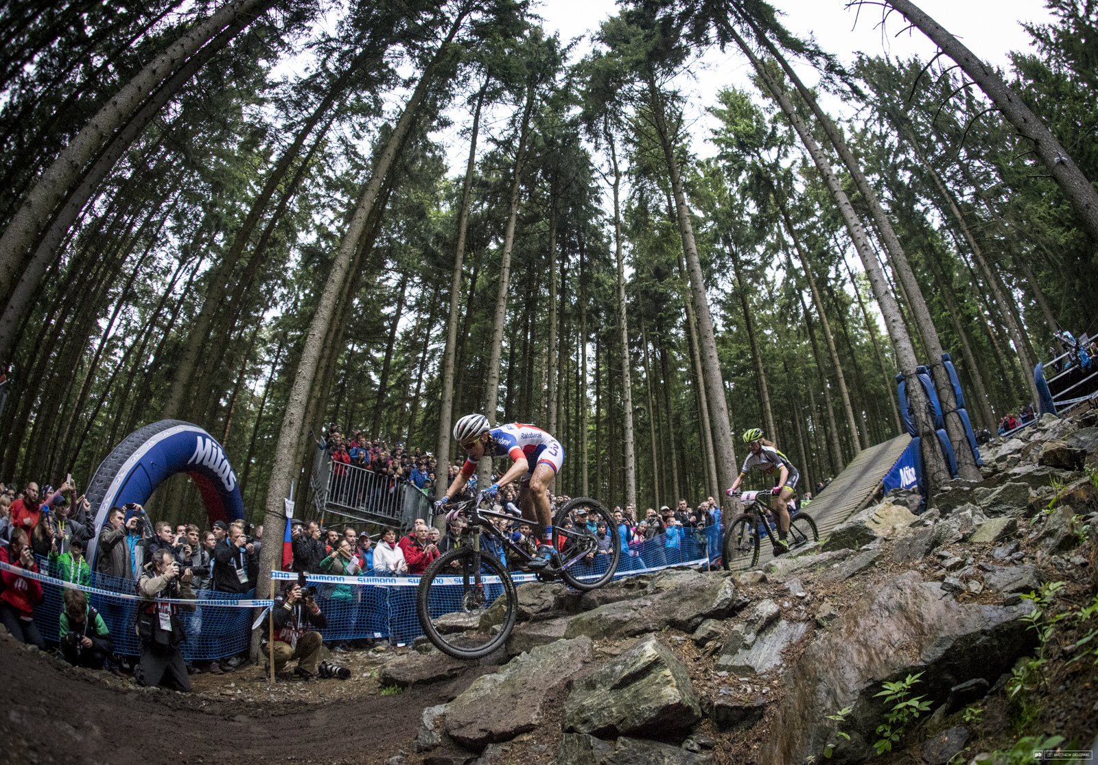 Pauline Prevot kept it going to third place today.