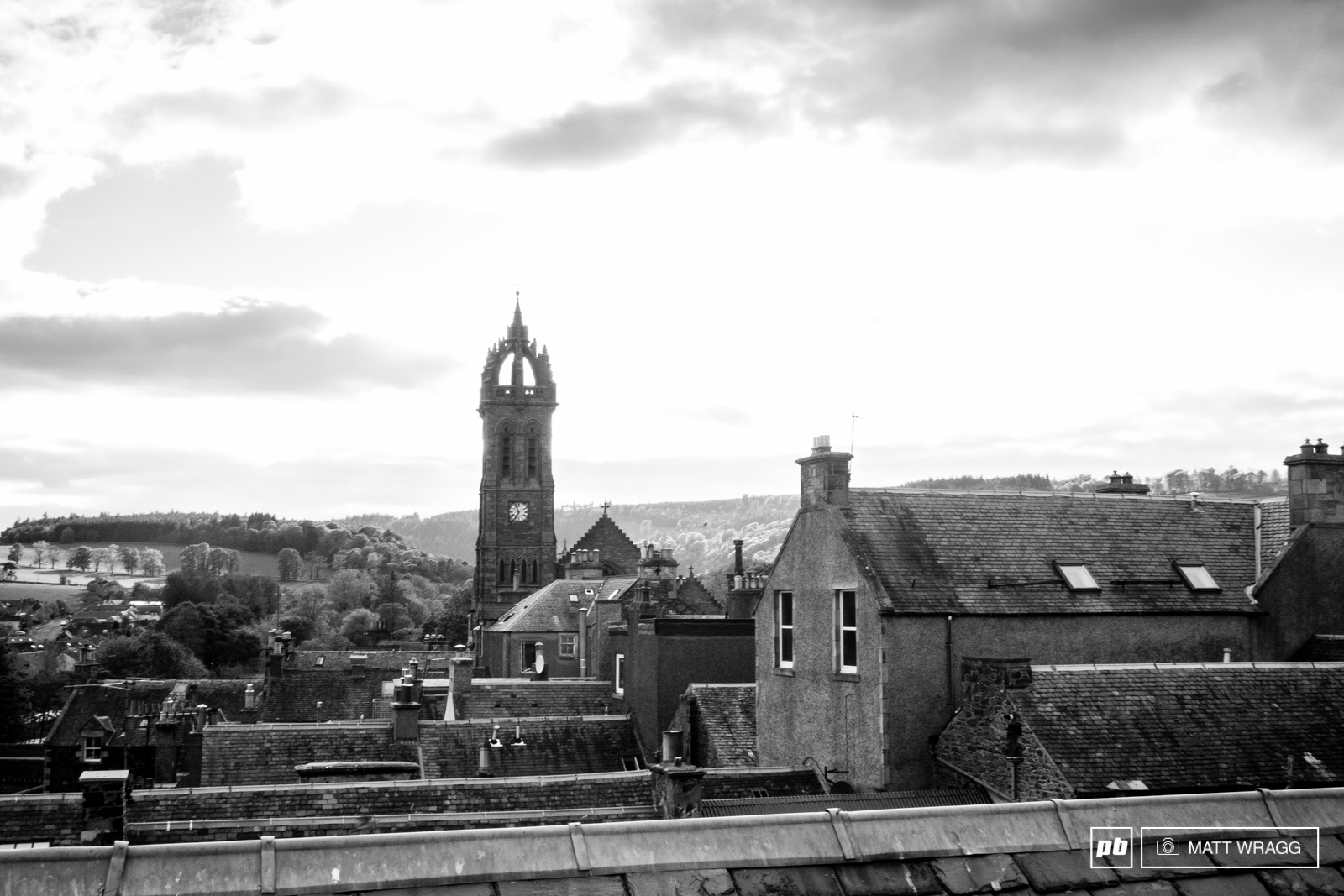 The rooftops of Peebles