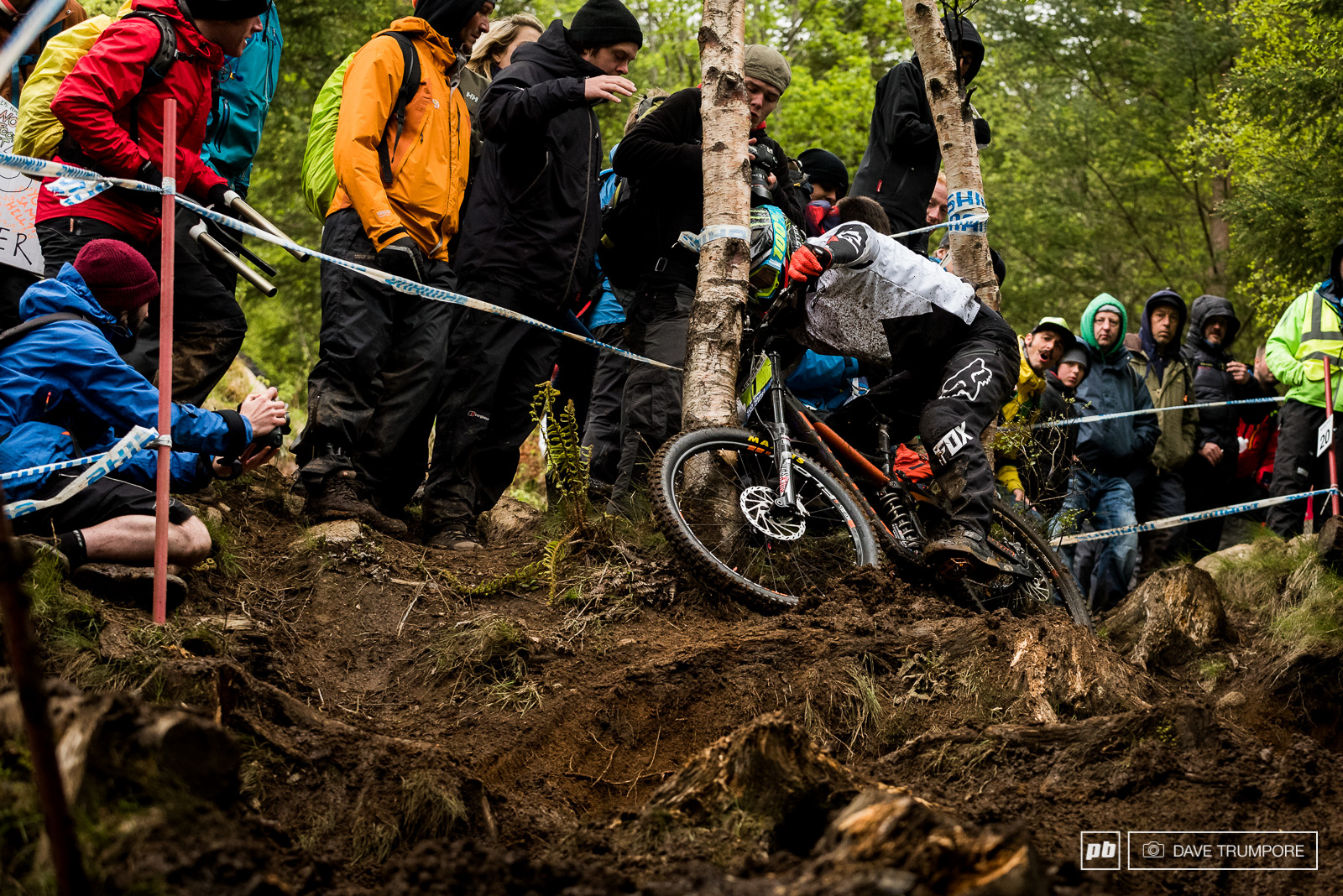 Junior points leader Andrew Crimmins was on a good time until getting off line here in the bottom woods.