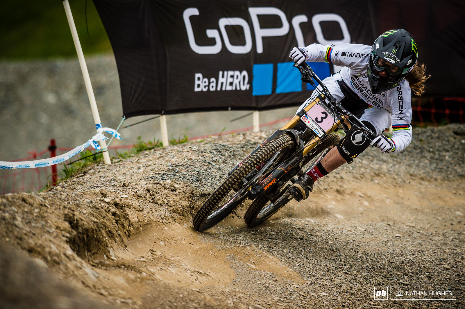 Poor Manon Carpenter will already be trying to etch Leogang 2015 from her memory. Mistakes on track were followed by getting blown through the tape for a DQ. Next time