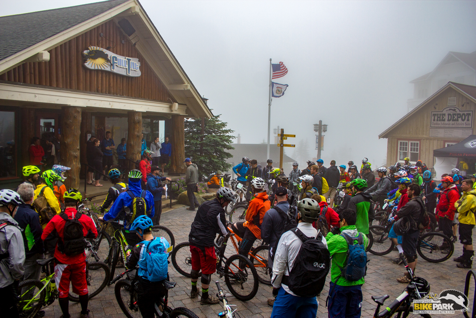 The rain stopped just long enough to get to 10am rider meeting under way.