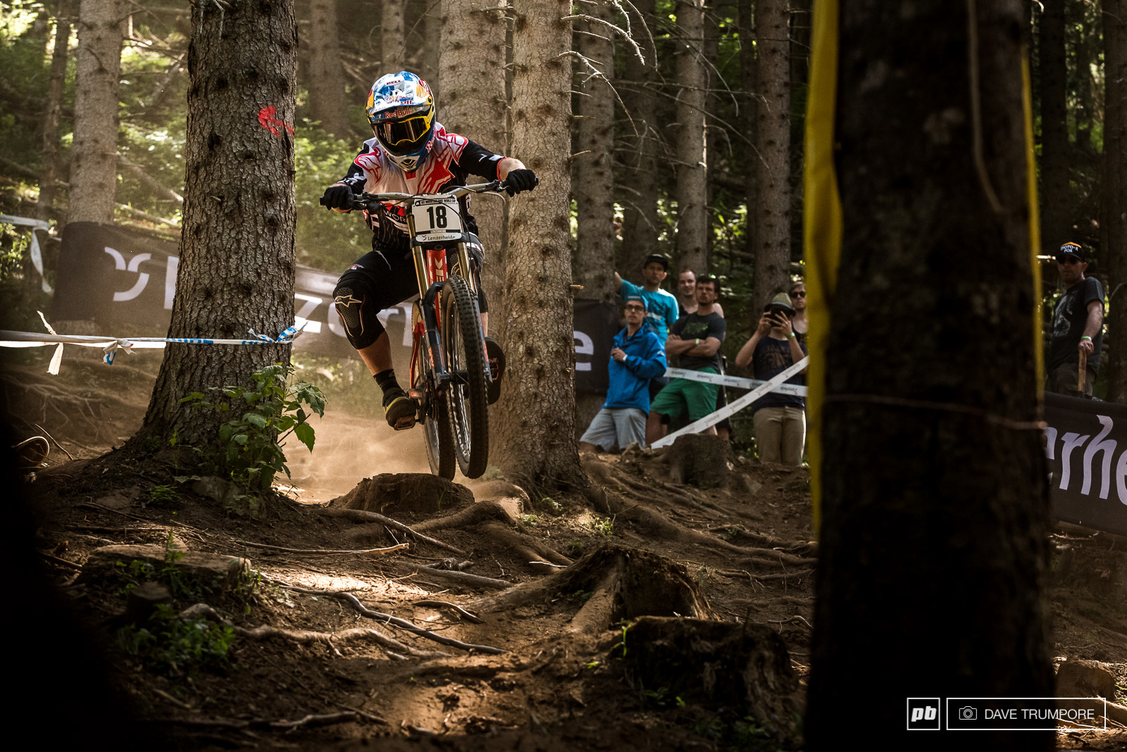Brooke MacDonald fully committed through the roots and stumps to round out the top 10