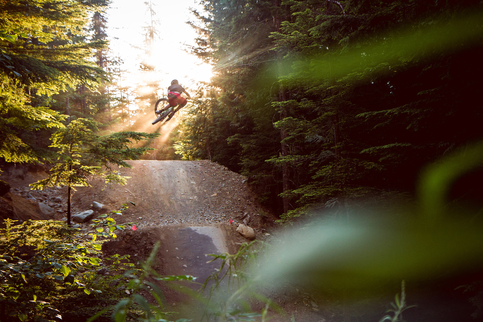 Golden hour laps on Dirt Merchant. Kyle supplying the goods with the big boost.  Whistler Bike Park is sweeter than a Haribo Fantastic.