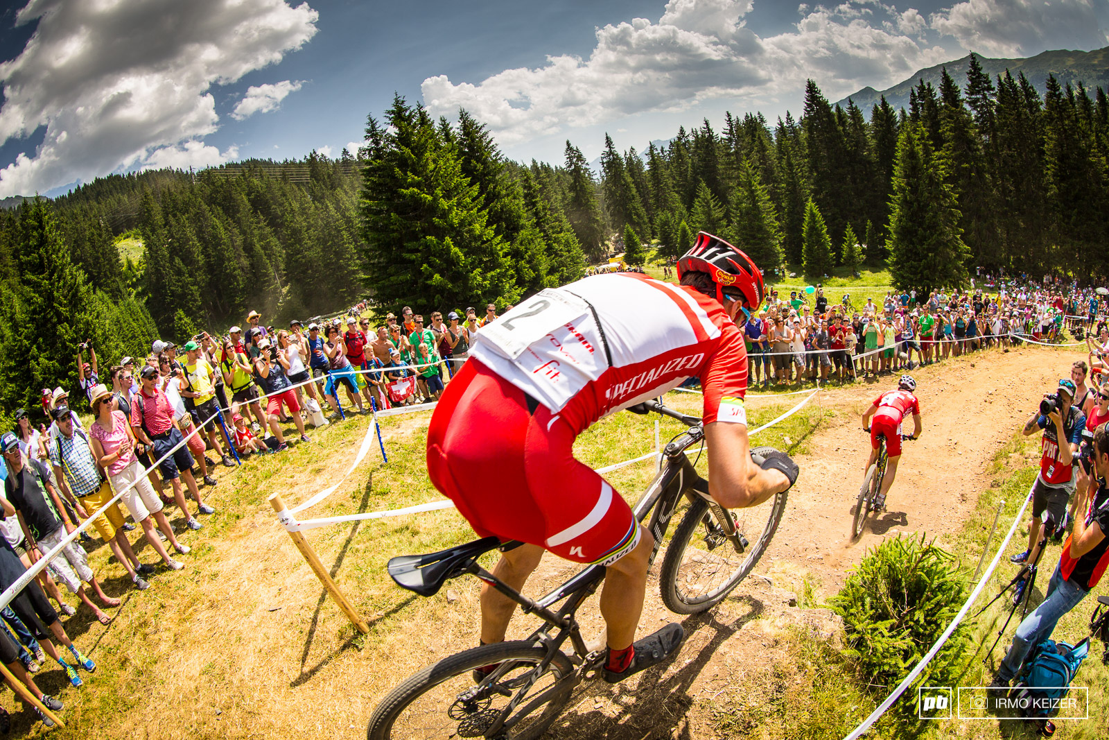 The battle of the day proved to be between the unleashed Jaroslav Kulhavy and Nino Schurter.