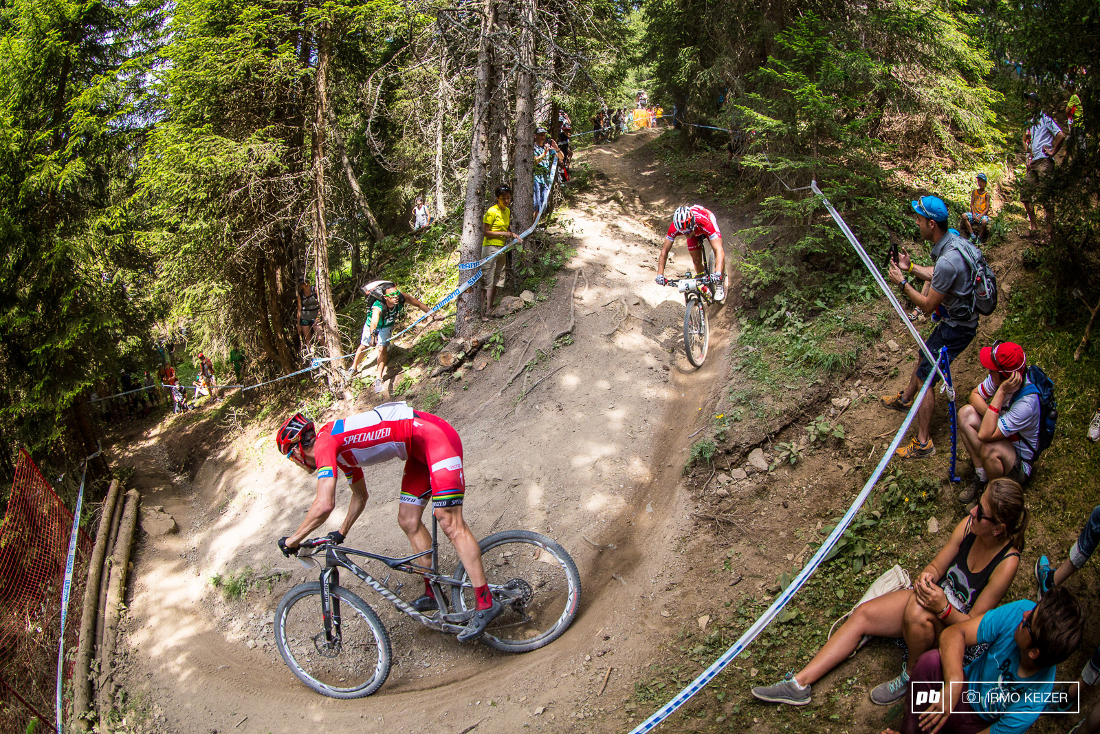 Jaroslav Kulhavy fired from all cylinders as he overtook Schurter coming into the descent.