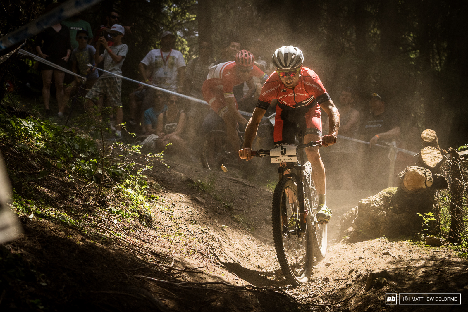 Mathias Flukiger is getting faster and faster. Fourth place today for the Stoeckli rider.