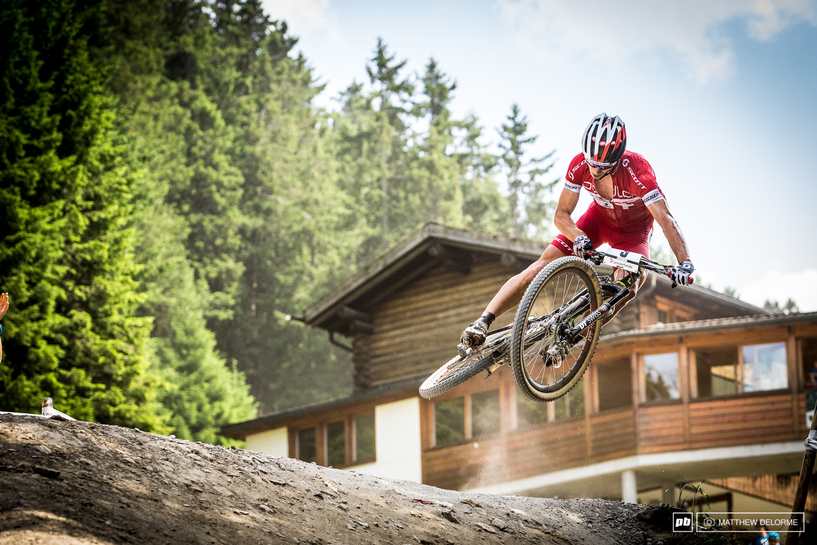 Nino Schurter may not have won today be he sure did show some style.