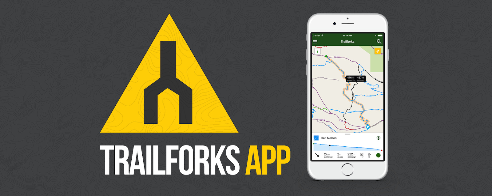 Trailforks mobile app for ios and android