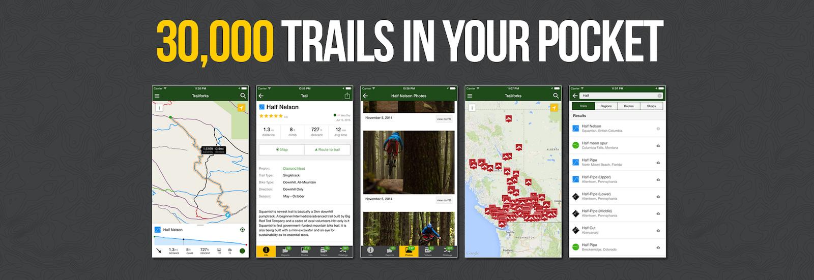 worldwide offline trail maps