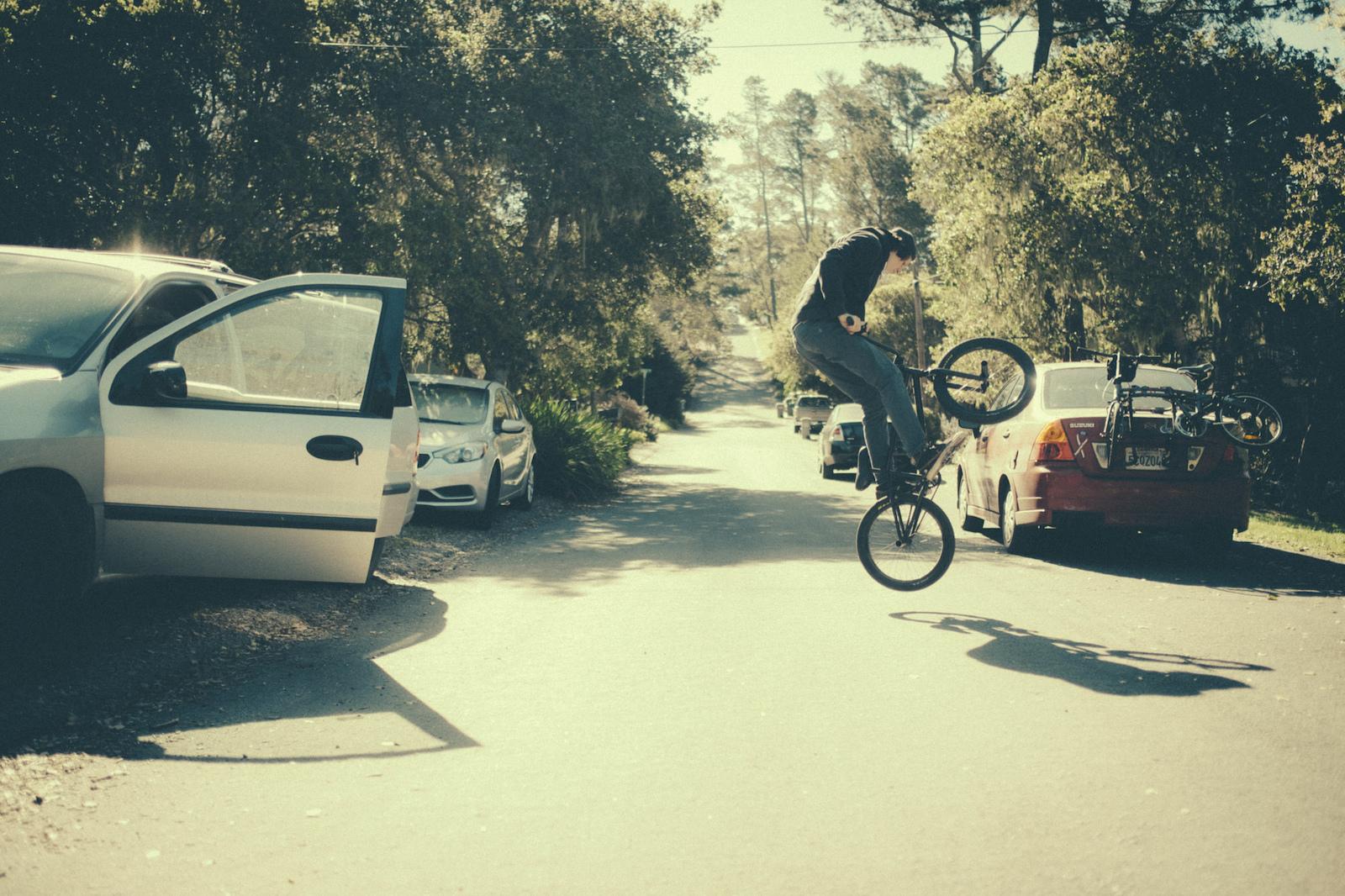 Brandon Semenuk in his 1 shot segment for unReal movie in Cambria California USA 2015 Anthill Films