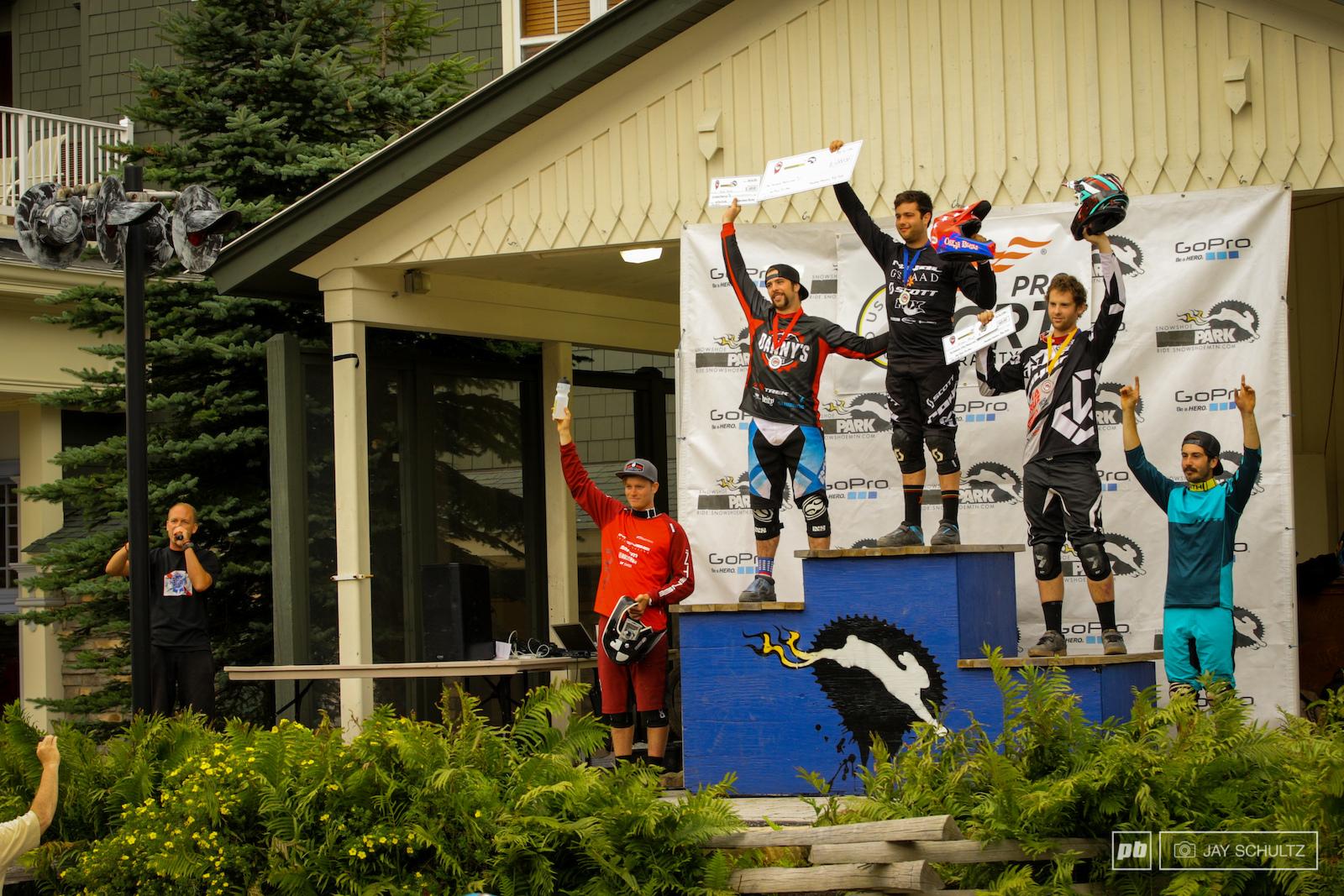 Men s Pro Podium - Gold - Neko Mulally 03 17.9 Silver - Phil Kmetz 03 18.2 Bronze - Kiran MacKinnion 03 18.3. 1 second split the top five That s racing