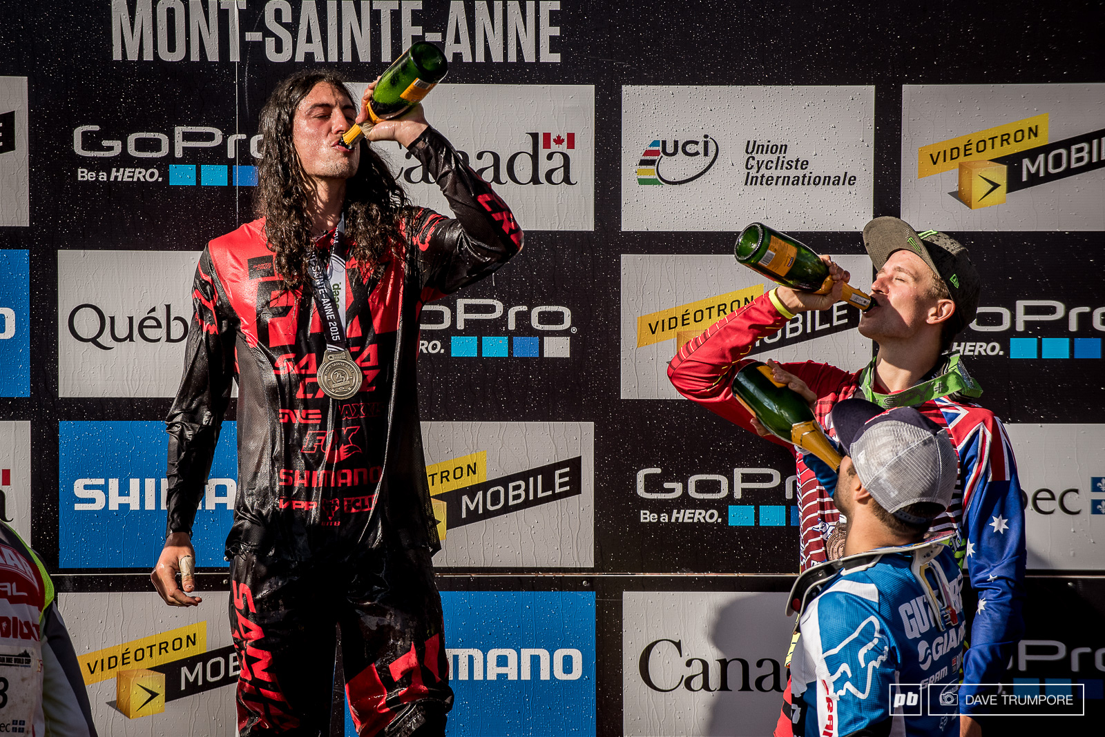 A quick podium shower to rinse off the mud and sweat and Ratboy was ready for the party.