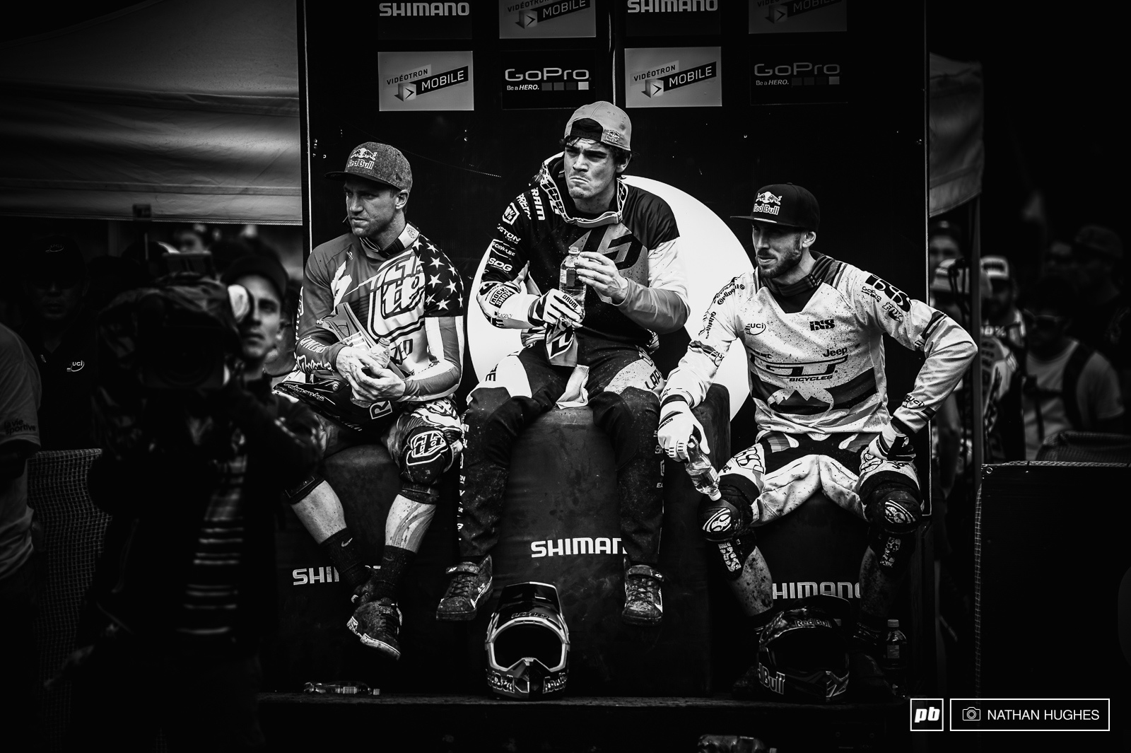 Loic Bruni in the middle of his hard time spent in the hotseat.