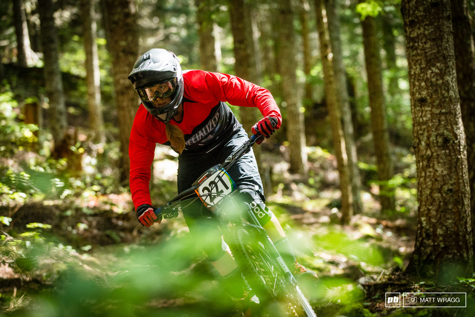 Miranda Miller got fifth in Mont Saint Anne at the World Cup DH last weekend this weekend she nailed sixth in the EWS here in Whistler.