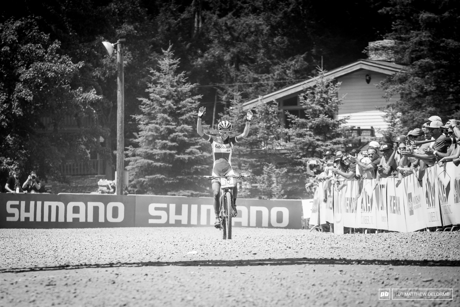 Paulie Ferrand Prevot bringing home her first win of the season.