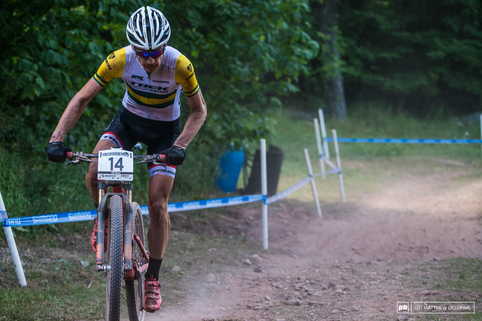 The climbs on this course suited Dan The Diesel McConnell. He rode to fifth place his best result this season.