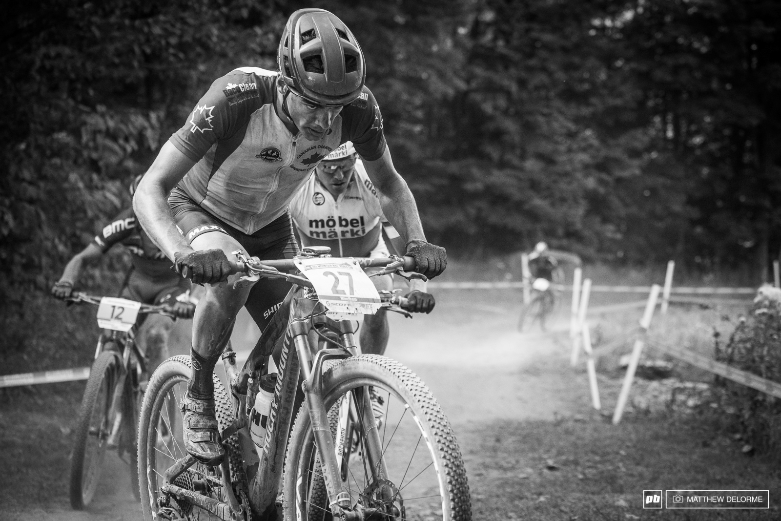 Canadian Raphael Gange rode to an impressive sixth place.