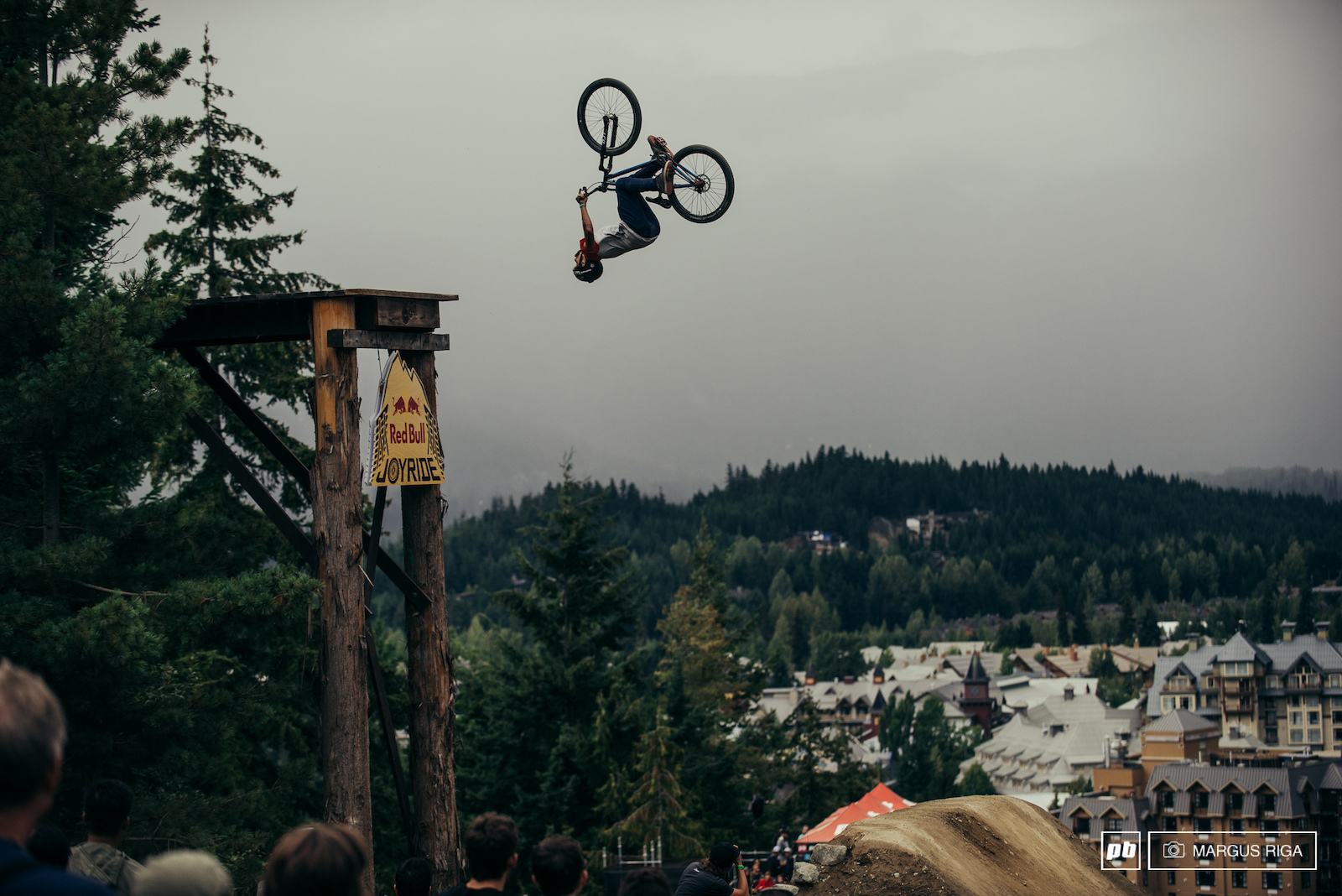 The first air of Crankworx slopestyle.