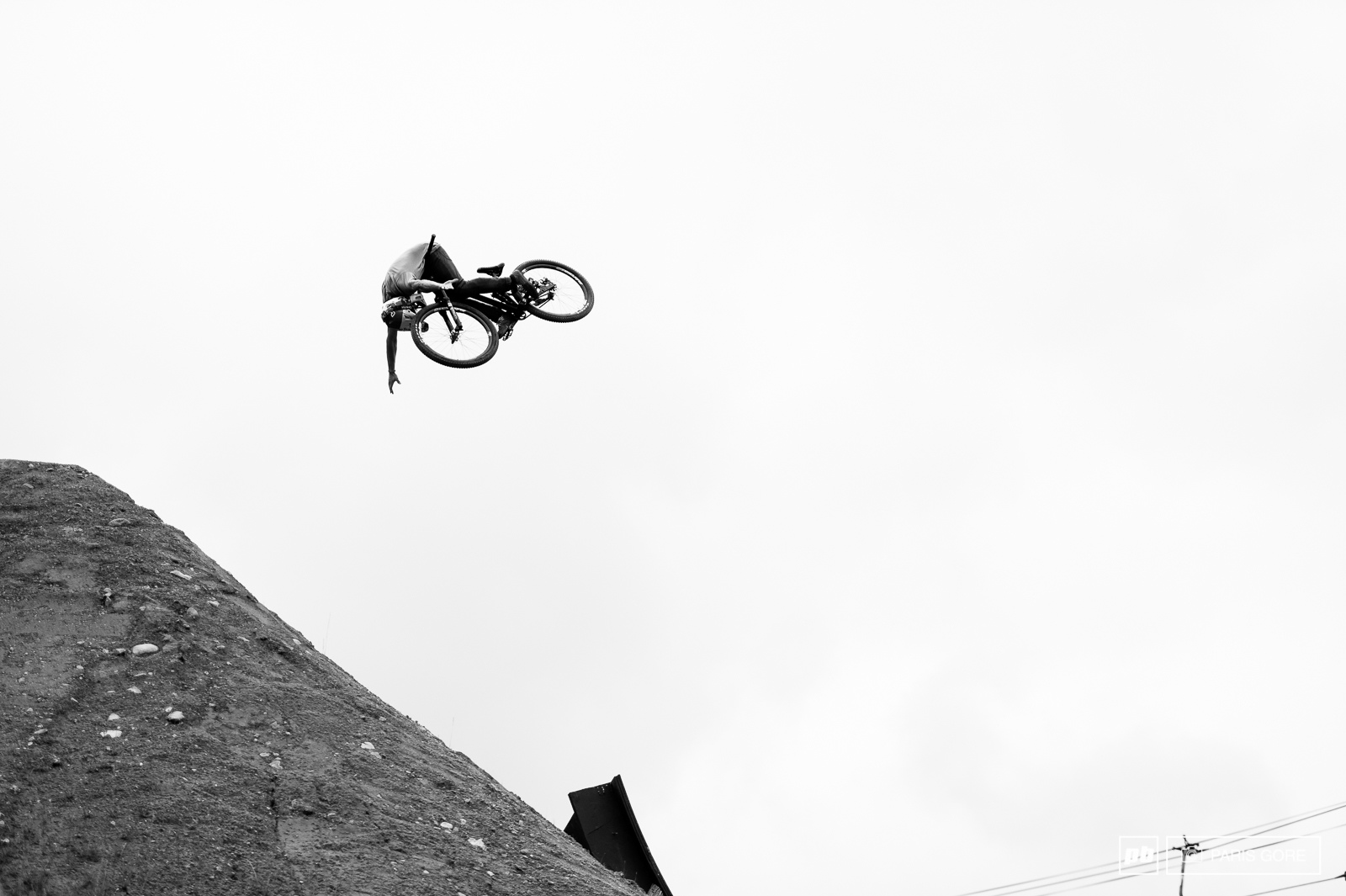 Anthony Messere with a laid out frontflip tuck.