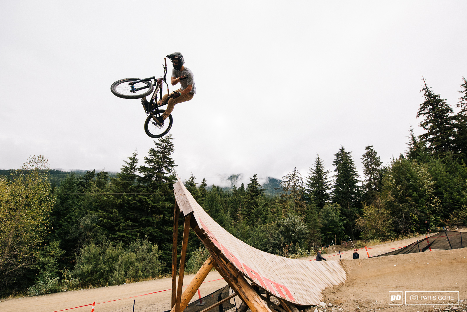 Carson Storch bar spin off the wall ride that eventually took him out later in practice.