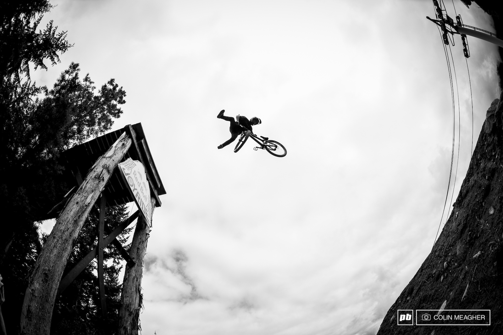 Tailwhips 360s and backflips were the stock trick off the opening drop.