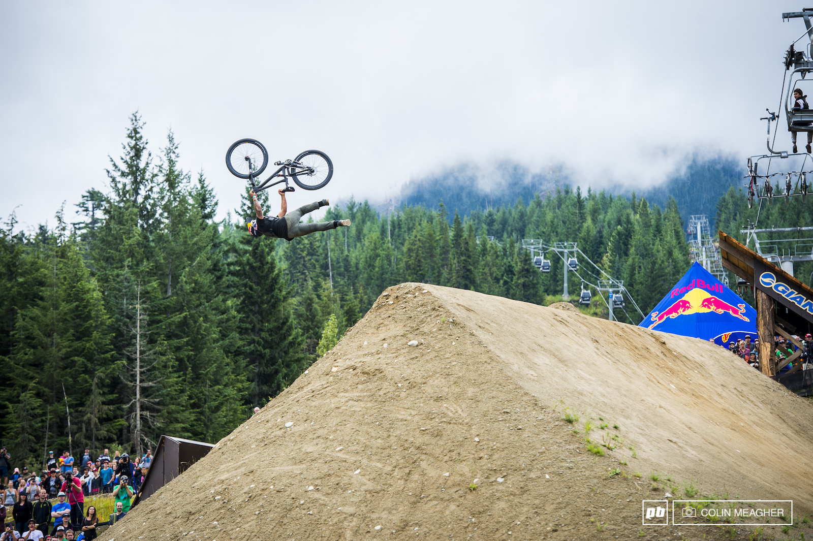 Grannieri getting all twisted up with the super man seat grab Indian backflip. Just thinking about that makes me ill.