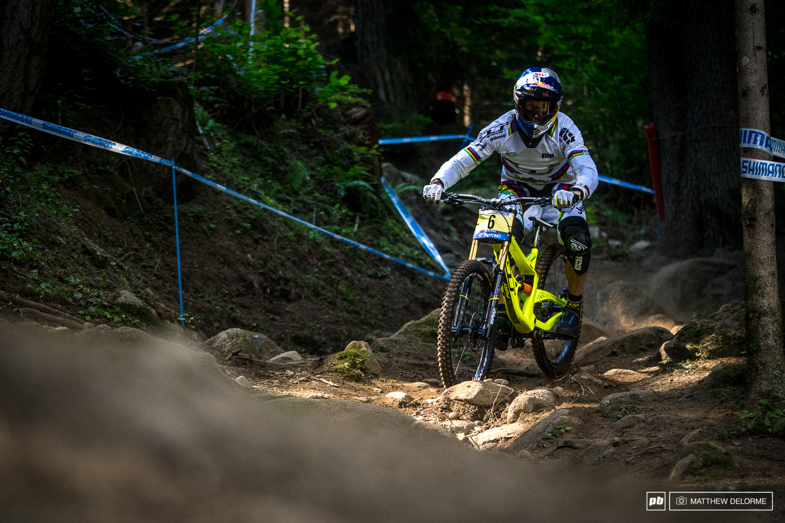 Gee Atherton couldn t add a win to his Val Di Sole record today. The World Champ finished sixth.