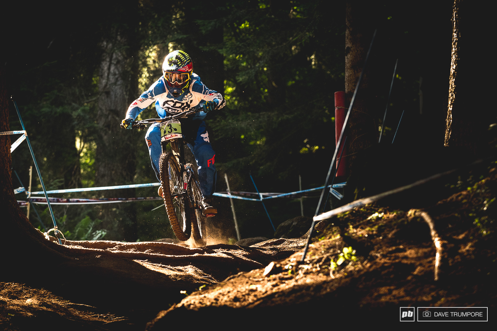 Alex Marin crashed half way down and could not back up his first place from qualifying in Juniors.