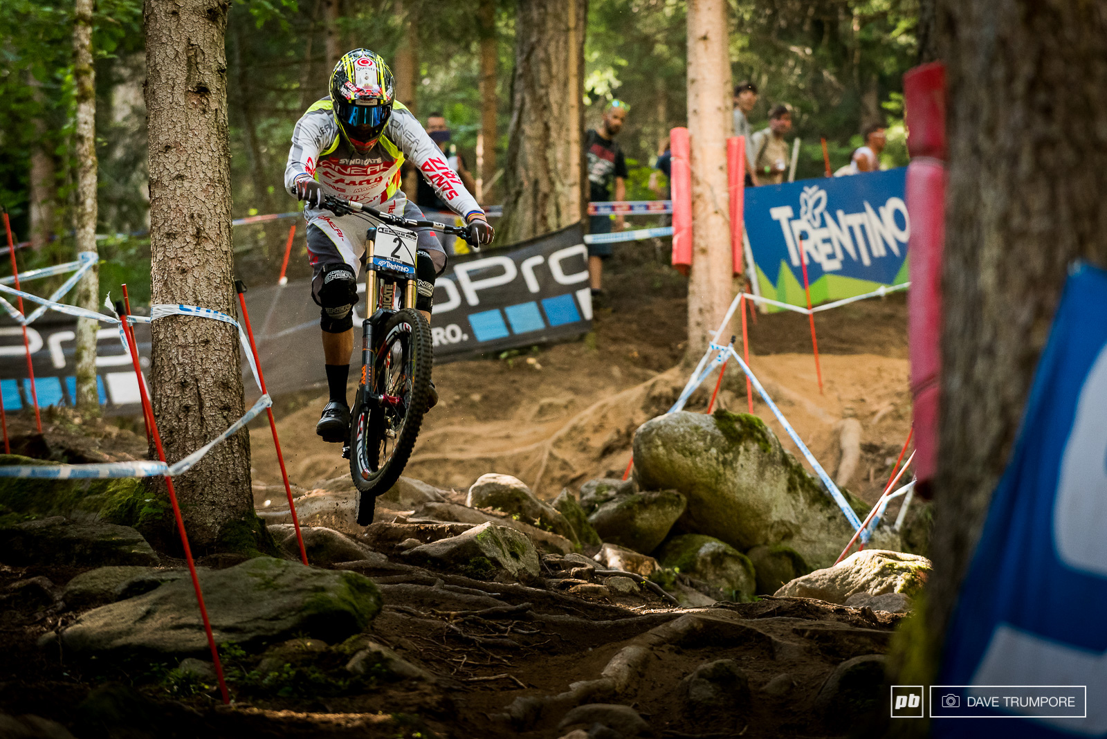 Greg Minnaar met a bit of misfortune on his run and would finish off the podium.