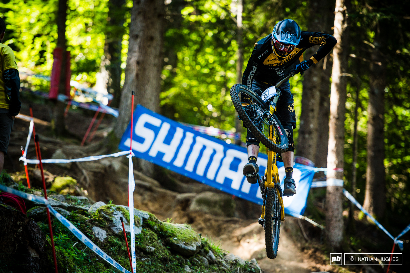 A common utterance in the forest this season was if Phil Atwill stays on his bike he ll have a top result . Well at the last opportunity he managed it... A first elite top 20 for the wildman wildcard.