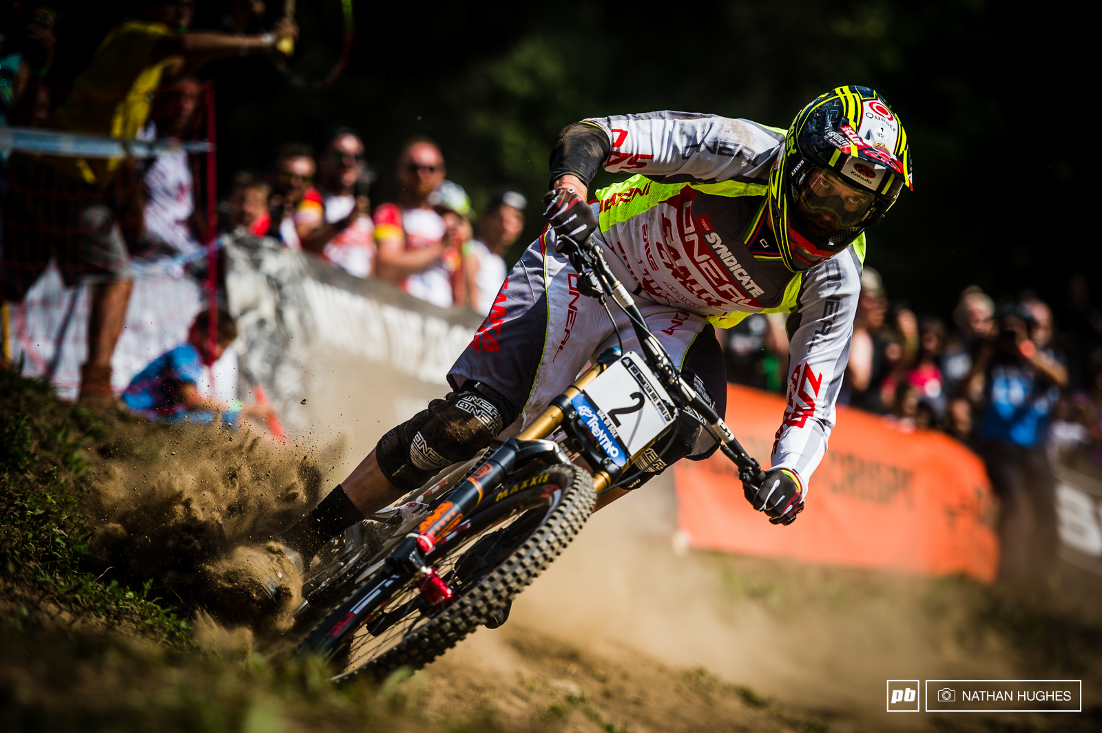 Greg Minnaar knew it would take something exceptional to catch Gwin and went all out but came unstuck in the dust pushing too hard. Still an exceptional season including two wins and coming back from a broken hand gave him 4th spot in the overall.