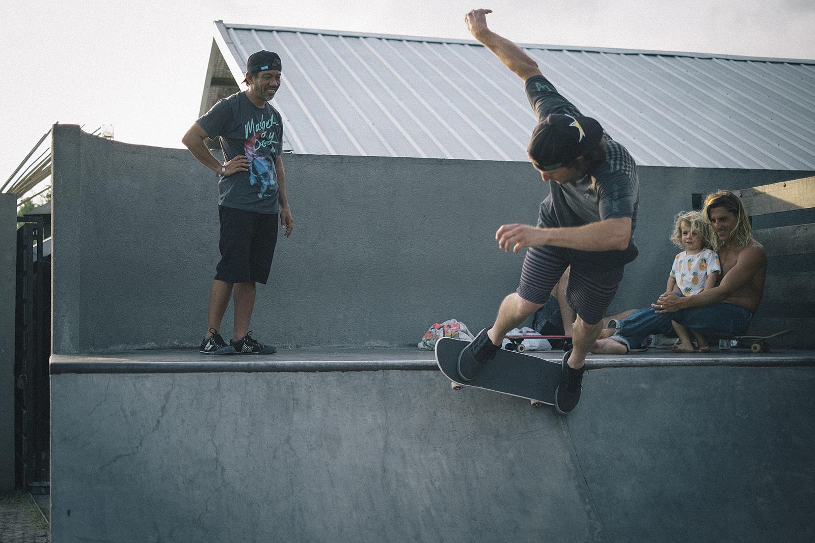 Cam McCaul and Chandra Ariavijaya skate Bali Indonesia