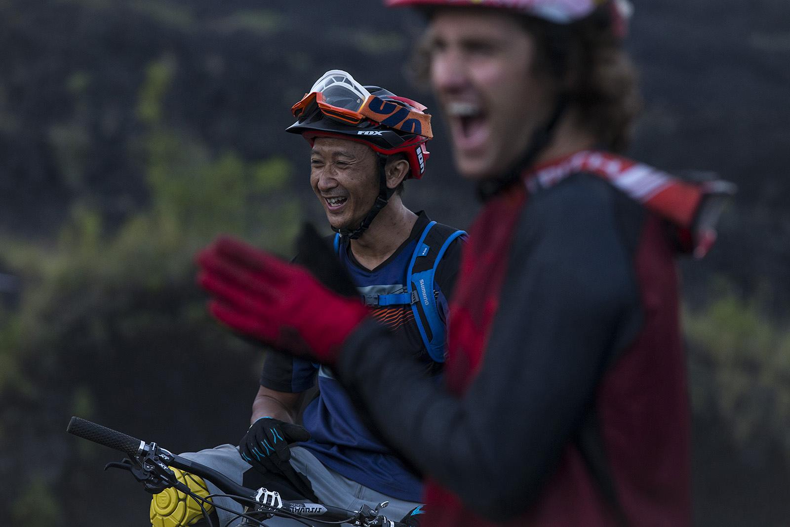Cam McCaul with Rahmat Saefudin in Bali Indonesia